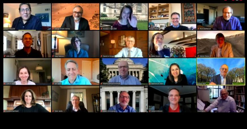 MIT's virtual town hall on May 5 featured 20 MIT administrators and faculty.